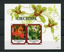 Gambia 2015 MNH Orchids 2v S/S Flowers Flora Disa uniflora