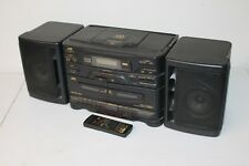 JVC PC-X130 with Detachable Speakers & Remote AM/FM Radio CD Cassette Boombox