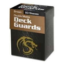 80 BCW Matte Brown MTG Deck Guards Protector Gaming Card Sleeves - BOXED!