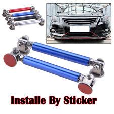 2x Adjustable Splitter Lip Spoiler Support Rod Strut Tie Bar Support Blue 75mm