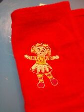 UPSY DAISY FACE  CLOTH/LOVELY EMBROIDERED  IN THE NIGHT   GARDEN GIFTS/KIDS/