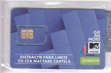 TELECARTE GSM SIM COLLECTOR .. ROUMANIE COSMOTE MTV RADIO TV +N° CHIP/PUCE NEUVE