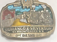 Vintage Durango and Silverton Narrow Gauge RR Belt buckle
