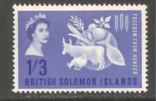 Solomon Islands #109 (CD314) VF MINT NH - 1963 1sh3p Freedom from Hunger
