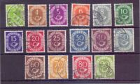 Bund 1951 - Posthorn - MiNr. 123/138 rund gestempelt - Michel 50,00 € (120)