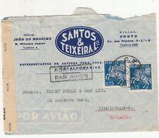 Portugal: Censored Airmail Cover; Santos & Teixeira, Porto, to Birmingham, 1945