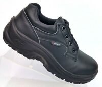 Cofra Black Leather Work Safety 803-S3 Shoes Women's US 4.5W EU 37