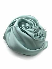 Plain Satin SQUARE Hijab plain scarf wrap occasion Party sheen turkish style