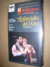SANTI / DOMINGO / PUCCINI la fanciulla del west - booklet - SEALED - VHS TAPE