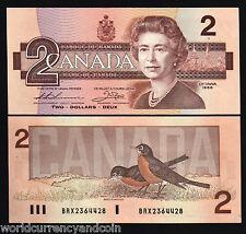 CANADA 2 DOLLARS P94 1986 QUEEN BIRD UNC BRX REPLACEMENT THIESSEN/CROW SIGN NOTE