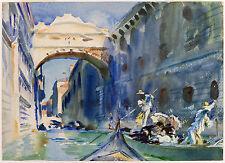 John Singer Sargent Watercolor Reproductions: Bridge of Sighs: Fine Art Print
