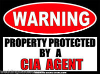 CIA Agent Funny Sticker Central Intelligence Agency Warning Decals 2-pack  WS256