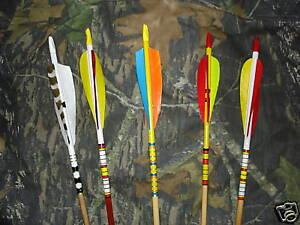 Traditional Port Orford Cedar Arrows Half Dozen Custom made
