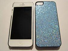 Blue Fashion Glitter iPhone SE 5S 5G 5 DIAMOND BLING Designer Glitter Full Case