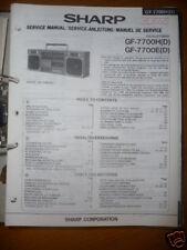 Service Manual Sharp GF-7700H/E Radio Recorder,ORIGINAL