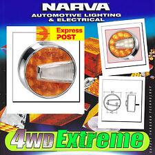 NARVA LED ROUND 80MM BULL BAR INDICATOR PARK LIGHT ROUND LANDCRUISER NEW 95006