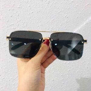 NIB Cartier Fashion Sunglasses Wood Rimless Black lens