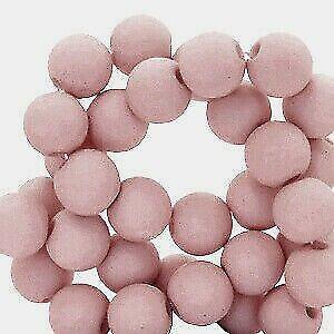 Acrylperlen hell altrose matt 6mm Auswahl 50/300 Stück Farb-Nr.66