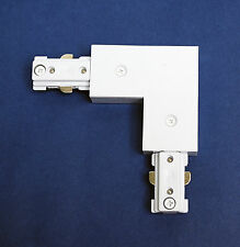 1pc [ L connector ] Accessory for H Style 1 Way 3 Wire Track Lighting White
