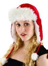 Santa Claus Plush Aviator Adult Red Costume Hat NEW