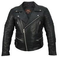 Herren lederwetse Motorrad Biker Kutte chopper Patches vest leather waistcoat WM