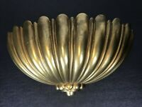 Large Vintage HOMCO INTERIOR Gold Ornate Sirocco Pocket Scones Greenery 15 x 6