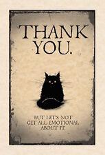 Mad antigua tarjeta de felicitación de Dama Gato: gracias-Nuevo en violonchelo