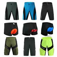 Mens Baggy Cycling MTB Shorts Quick dry Bike Casual Pants Mountain Road Shorts