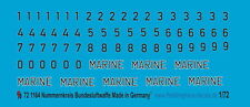 Peddinghaus  1/72 1164 Nummernkreis Bundesluftwaffe