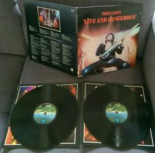 THIN LIZZY-LIVE AND DANGEROUS DOUBLE VINYL LP 1978 UFO labels first press