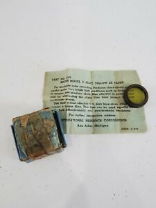 "• Argus Lens Accessory No. C-61 Model ""C"" Light Yellow 2X Filter in Original Box"
