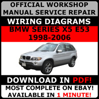 OFFICIAL WORKSHOP Repair MANUAL for BMW SERIES X5 E53 1998-2006 WIRING