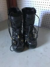 Jimmy CHOO  MOON SNOW BOOTS EU 35 37 BLACK WITH FUR