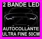 2 BANDE LED SMD SOUPLE BLANCHE FEUX JOUR DIURNE FEU BLANC XENON IMITATION AUDI