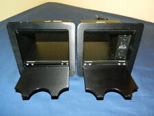 LOT OF 2 EXTRON CABLE CUBBY 600 UNITS BLACK with US AC Module 60-525-01