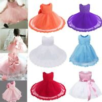 Flower Girl Princess Dress Toddler Baby Birthday Wedding Pageant Party Tutu Gown