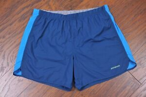 "Patagonia Strider 5"" Lined Shorts Blue/Green Men's Large L"