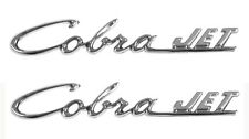 NEW! 1969-1970 FORD MUSTANG Cobra Jet Metal Chrome Hood Script Emblems Stick on