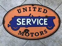 Antique style barn find look United Motors dealer service large sign.  Nice