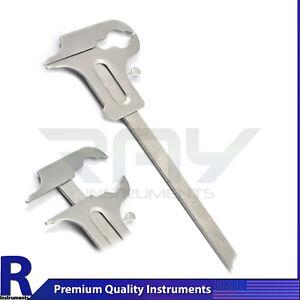 Dental Boley Gauge Caliper Dentist Lab Orthodontic Vernier Lab Instruments