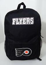 Philadelphia Flyers Hockey BACKPACK BAG 17.5 x 12 x 5 NHL New Black