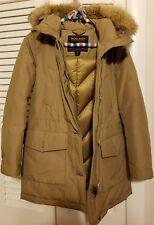 Women's Woolrich Luxury Arctic Down Parka High Collar Khaki XS