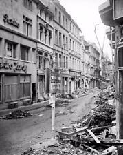 1945 WW2 Bonn Germany Beethoven Street Sign WWII Photo FL159