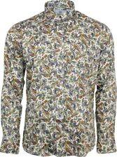 Camicie casual da uomo Multicolore Aderente