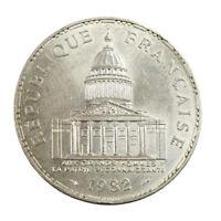 Pièce argent France 100 Francs Panthéon 1982 Silver Coin France