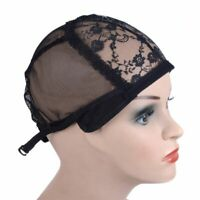 Wig Cap for Making Wigs Elastic Weave Lace Hair Snood Mesh Adjustable Straps
