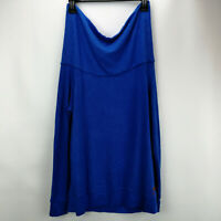 Peace Love World Comfy Knit Shoulder Top w/ Affirmation Victoria Blue XS A298971
