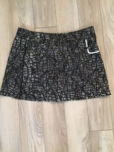 Jamie Sadock Golf Tennis Skort Skirt Shorts Stretchy Gray Black Sz L GUC