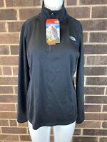 NWT Women's The North Face Tech Glacier Fieece Jacket Color Black 1/4 Zip Size M