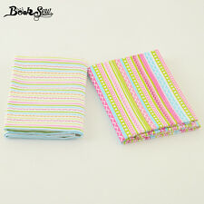 2PCS 50cmx100cm Cotton Twill Fabric Strip Design Sewing Cloth For DIY Patchwork